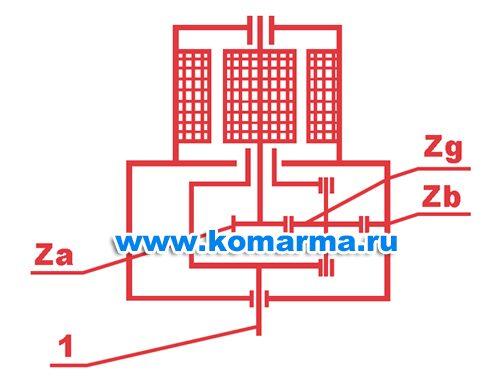 Схема мотор-редуктора МПО – 1